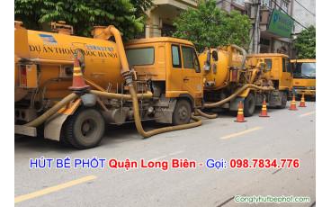 Hút bể phốt Long Biên
